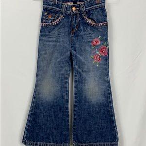 Baby Gap girls toddler 4 flare blue jeans